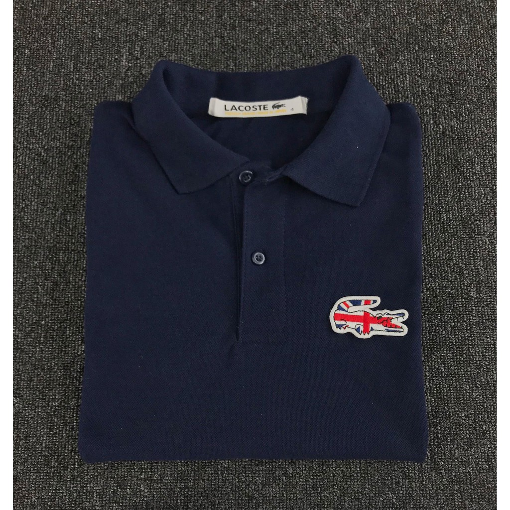 5ac6cee0 Lacoste Navy Blue Polo Shirt | Shopee Philippines
