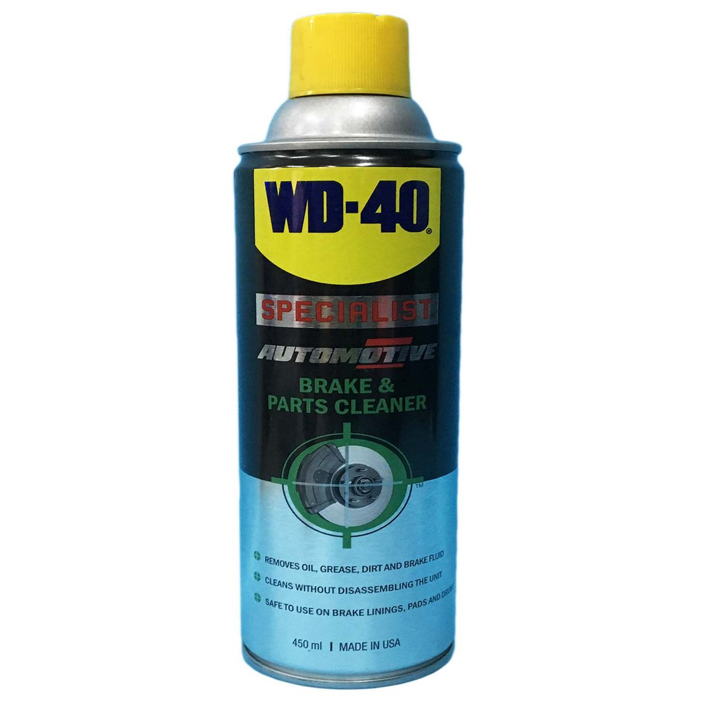 Wd 40 Brake Parts Cleaner Automotive Specialist 450ml Shopee Philippines