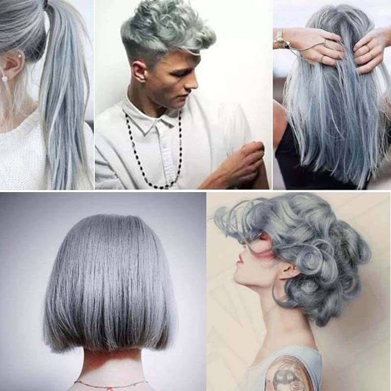 Unisex Light Grey Silver 100ml Hair Color Wax Mud Gream Dye Styling DIY  Coloring | Shopee Philippines