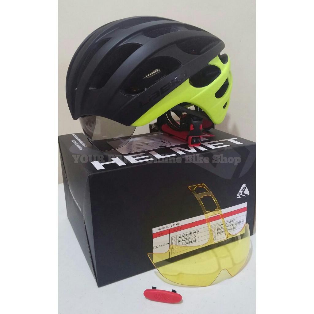 Bike Helmet Shopee American Bathtub Refinishers Helm Sepeda Pvc Dengan Backlight