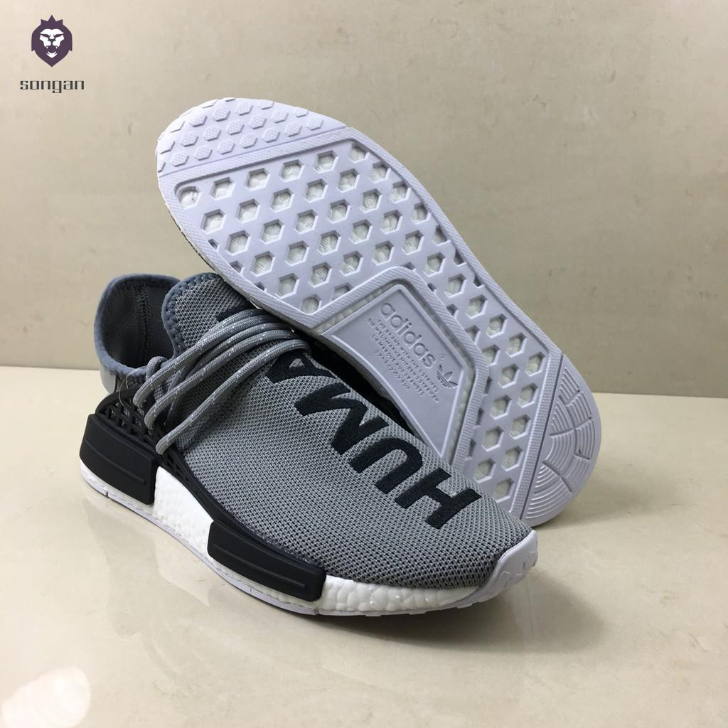 finest selection 4607e a4217 [songan]Pharrell Williams x adidas NMD Human Race Outdoors Men Women Low  Running Shoes Grey High qua