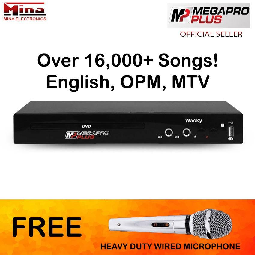 Megapro Plus Wacky DVD Karaoke 16,000 Songs w/ Free Mic
