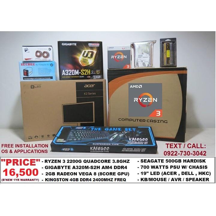 Ryzen 3 2200G Gaming Package