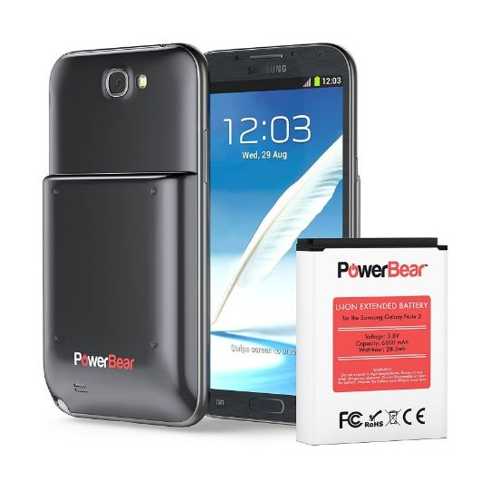 the latest 7d1e4 28a2c Powerbear Note 2 Extended Battery 6800mAh Samsung Galaxy