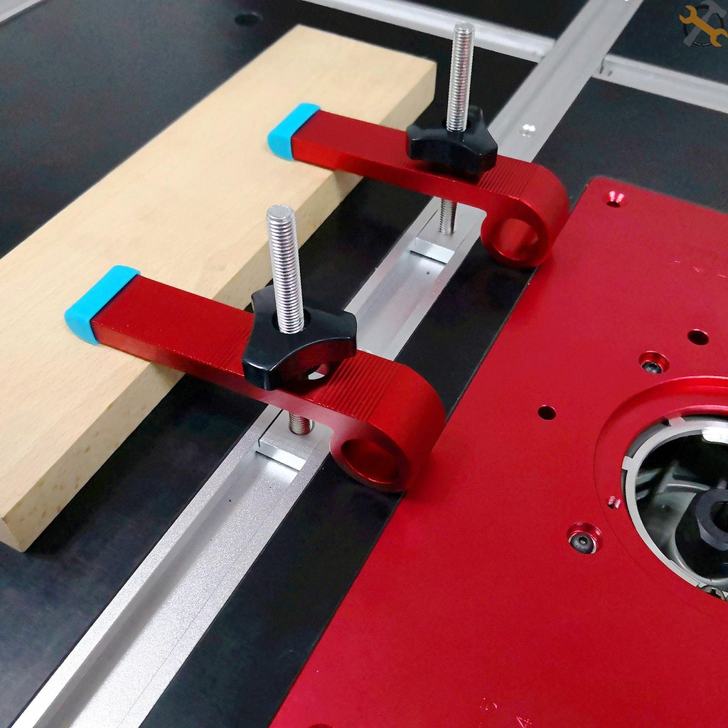 Adjustable T-Track Clamp Aluminum Alloy Hold Down Clamp Heavy Duty T-Slot Clamp Woodworking Tool