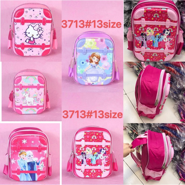 13-inches school bags character