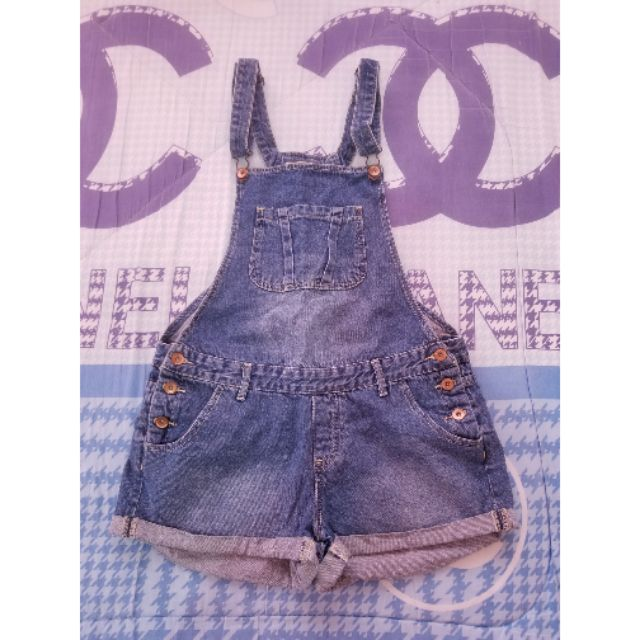 denim jumper shorts cotton on