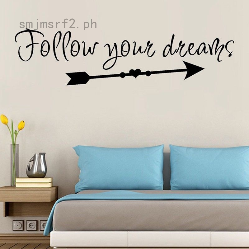 Follow Your Dreams Wall Stickers Bedroom Sitting Room Home Wall Decoration 1pc