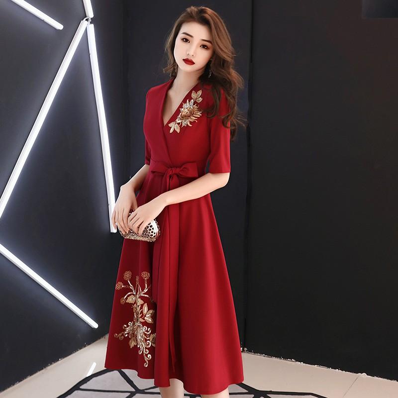 evening dress female banquet elegant