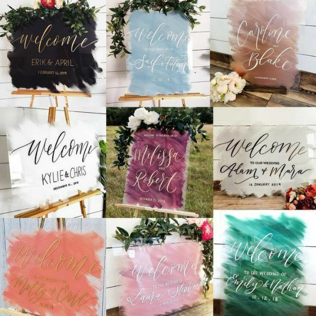 birthdays,family reunions Printed,on,Board for baby shower pvc plastic Custom,Picture Weddings Quincea\u00f1era,sweet sixteen Frame