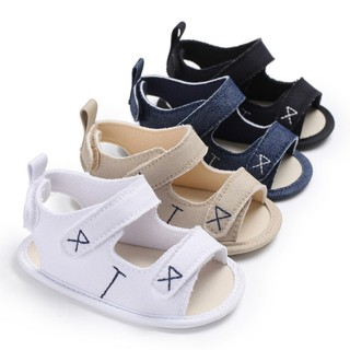 8a17bd32 Summer Infant Newborn Baby Boy Girl Soft Sole Canvas Pram Shoes Trainers