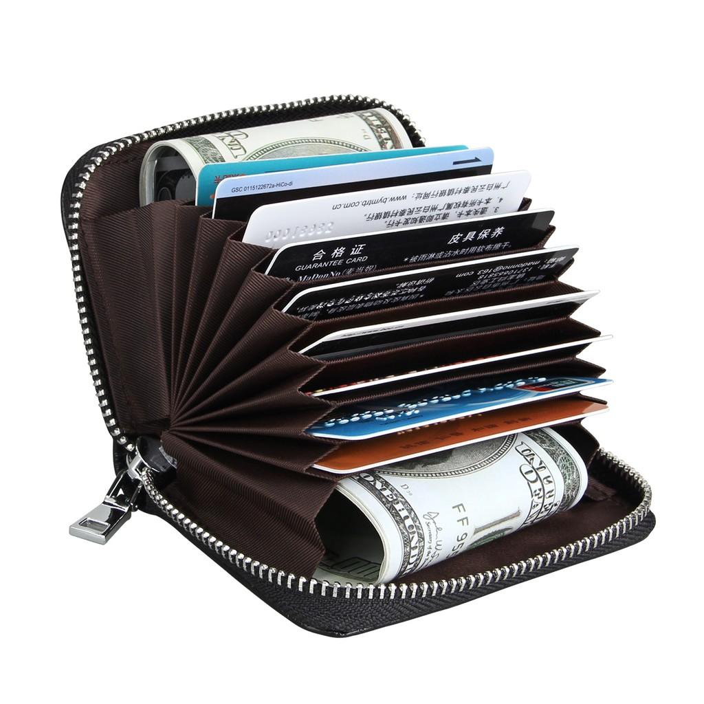 Mens Leather Wallet RFID safe Quality Soft Credit Card Holder Purse Genuine