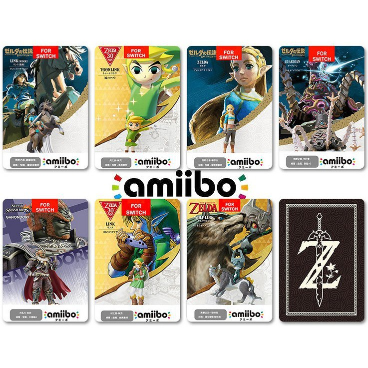 BOTW OOT SSB Link for NS 18Pcs Amiibo NFC Tag Cards