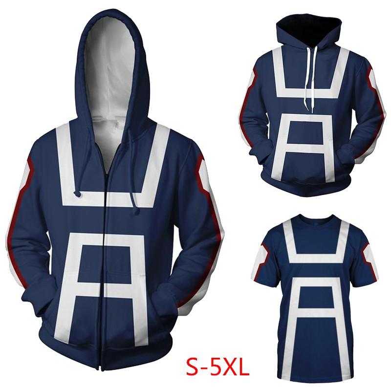 Boku no My Hero Academia S3 Izuku Midoriya Sweatshirt Hoodie Jacket Cosplay Coat