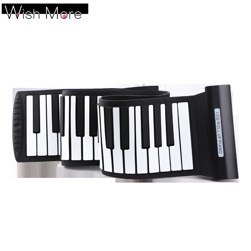 WISHMORE 88-key Hand Roll Piano MIDI Roll Piano Folding Roll Piano Portable  Roll Piano