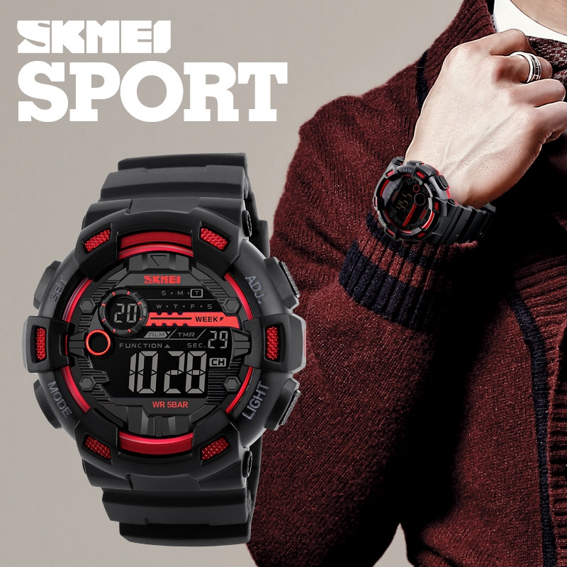 Digital Watches Synoke Smart Watch For Man Waterproof 5bar Luxury Stainless Steel Mesh Rubber Pedometers Message Reminder Sport Smart Watch To Have A Long Historical Standing Men's Watches