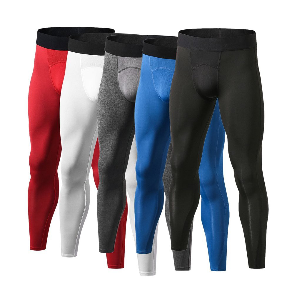 b09e7890e4 💪Men Compression Pants Tights Quick Drying Running Leggings | Shopee  Philippines