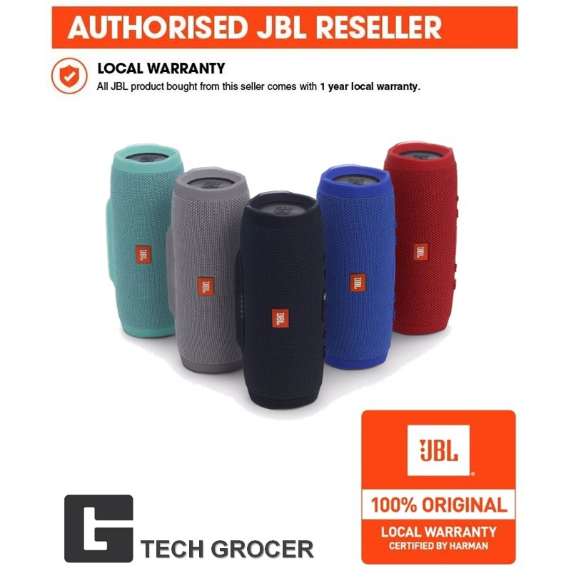 JBL Charge 3 Bluetooth Speaker 4 (Authentic)