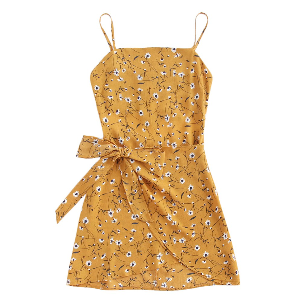ce3f825dfbee3 Women Summer Slip Dress Open Back Wrap Hem Cami Dress Mini Tunic Dress