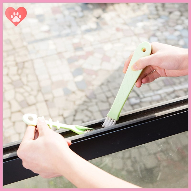 Window Door Keyboard Cleaning Brush Cleaner+Dustpan 2 In 1 Tool Window Brush