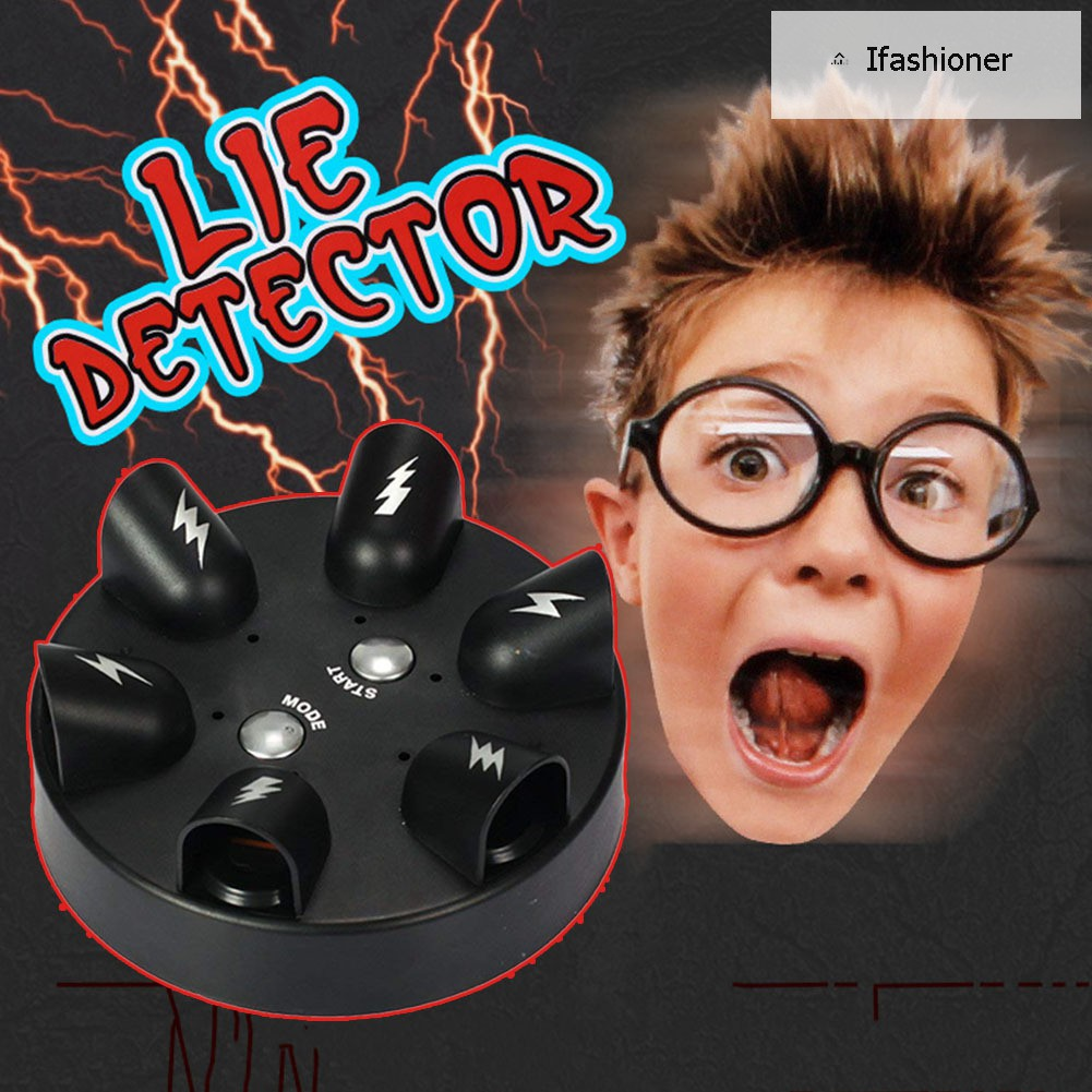 Polygraph Test Tricky Funny Adjustable Adult Truth Or Dare Game Electric Shock Lie Detector Liar Shocking Party Game Console Toy Carefully Selected Materials Toys & Hobbies