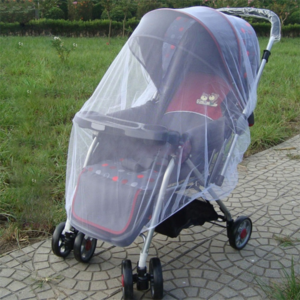 Universal White Mosquito Insect Net Buggy Pram Stroller Pushchair PLUS SIZE