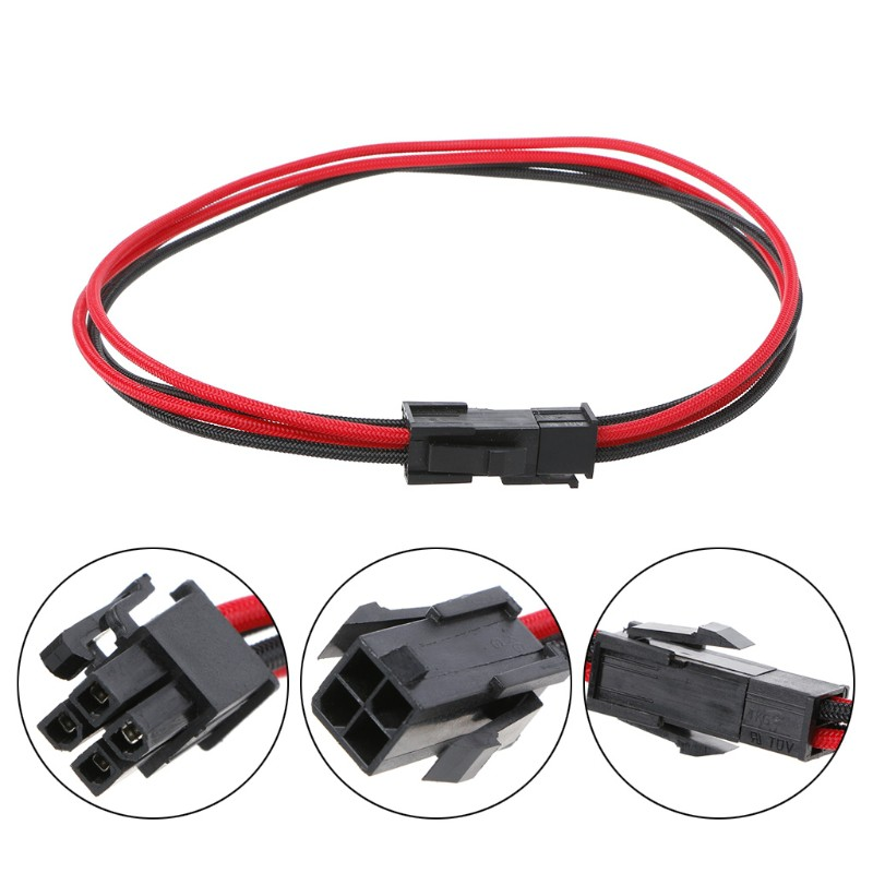 Cable Length: 40CM Connectors ATX EPS CPU Power Supply 4Pin CPU Male to Female 18AWG Extension Cable