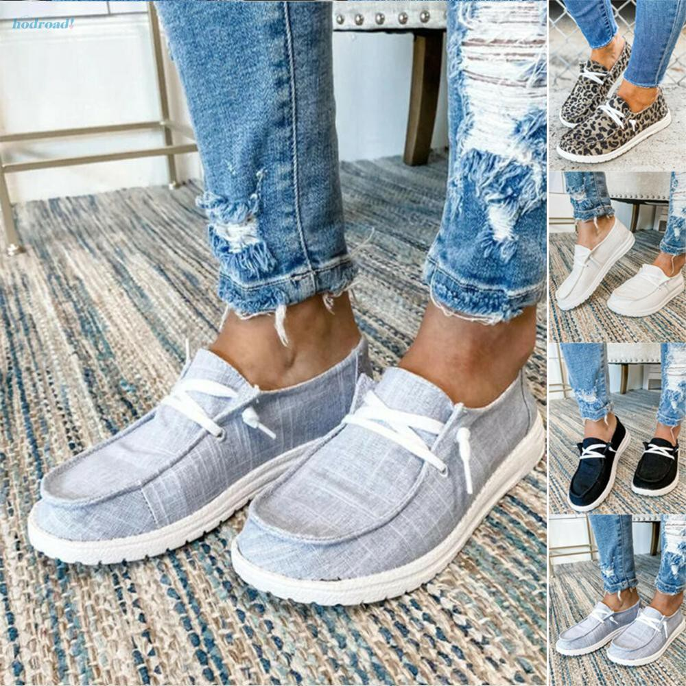 Details about  /Women Flats Sneakers Trainers Pumps Ladies Slip On Casual Comfy Shoes Loafers