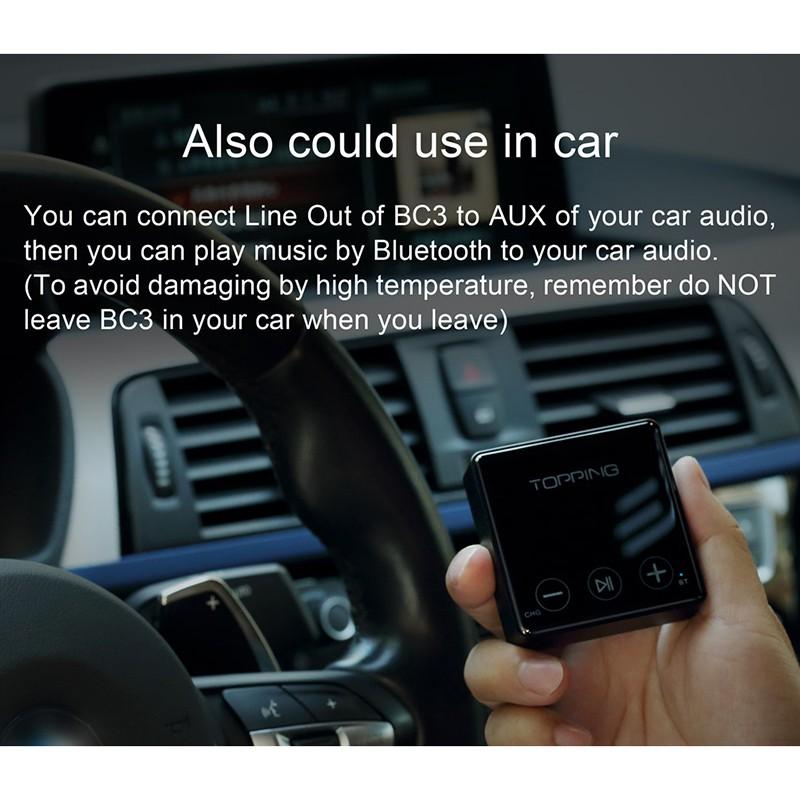 Topping Bc3 Bluetooth Ldac Receiver 24bit 96khz Sbc Aac Aptx Hd Csr8675 Es9018q2c Headphone Output Line Out Car Aux Receiver Shopee Philippines