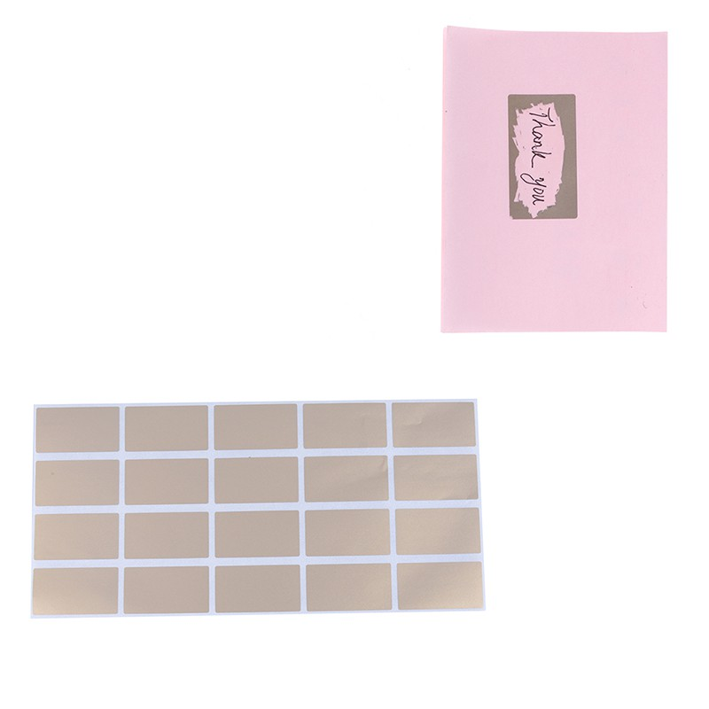 20Pcs sheet gold adhesive labels stickers rectangle games ca