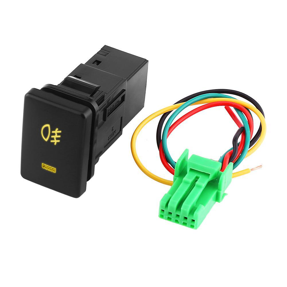 12v Universal Car Led Fog Light On Off Switch Wiring Harness Shopee Philippines