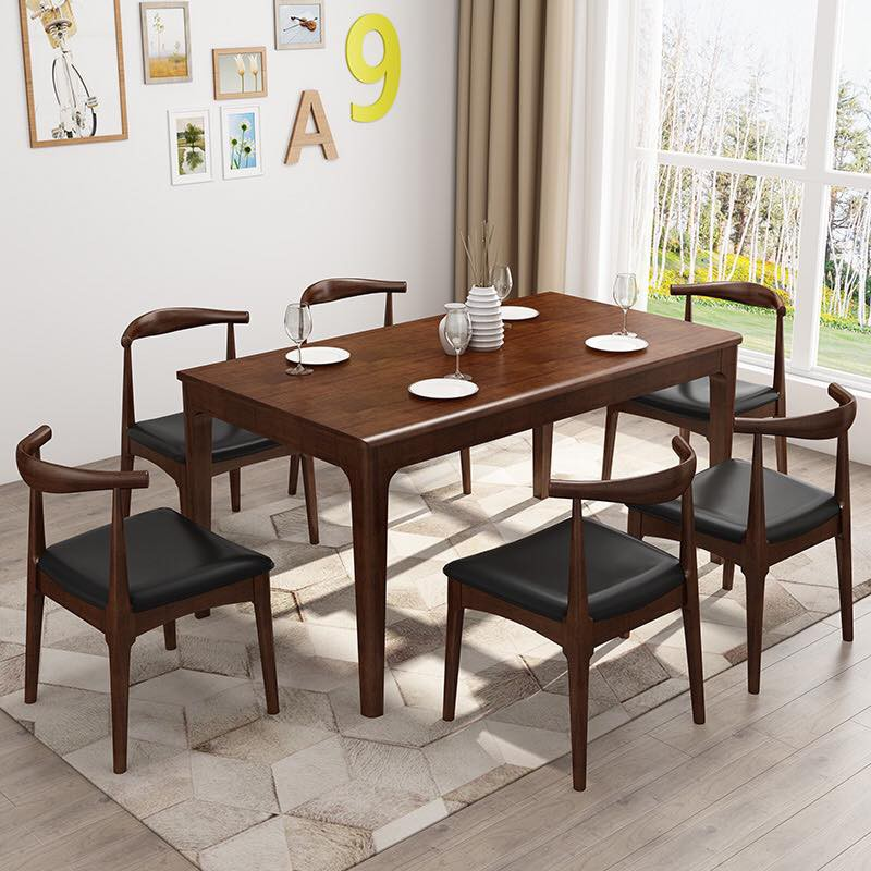 Solid Wood Nordic Style Dining Table Only Shopee Philippines