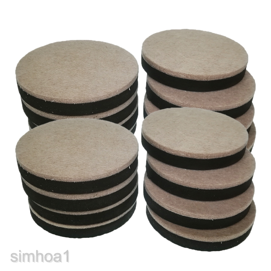 16 pcs reusable felt furniture sliders pads hardwood floor furniture movers