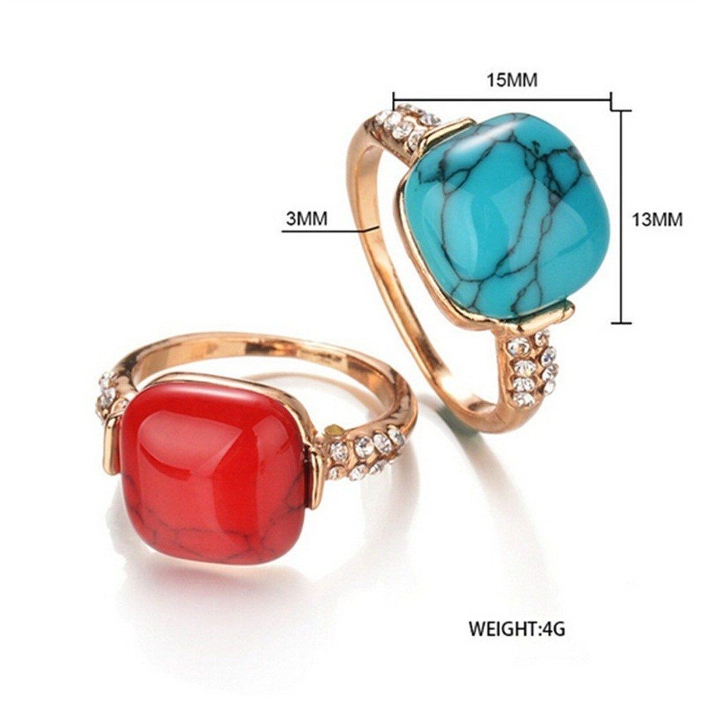Rings Fashion Jewelry Gemstone Turquoise Jewelry Jewellery Ring