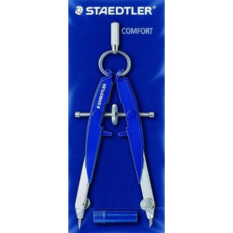 Staedtler Mars Comfort 556 Precision Geometry Compass Spring Bow Head Germany