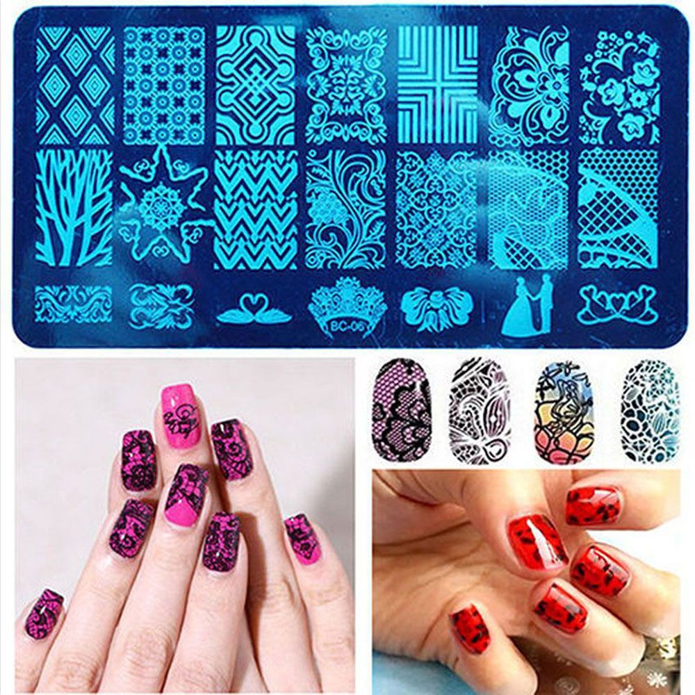 Flower Butterfly Nail Art Stamp Template Image Plate Shopee