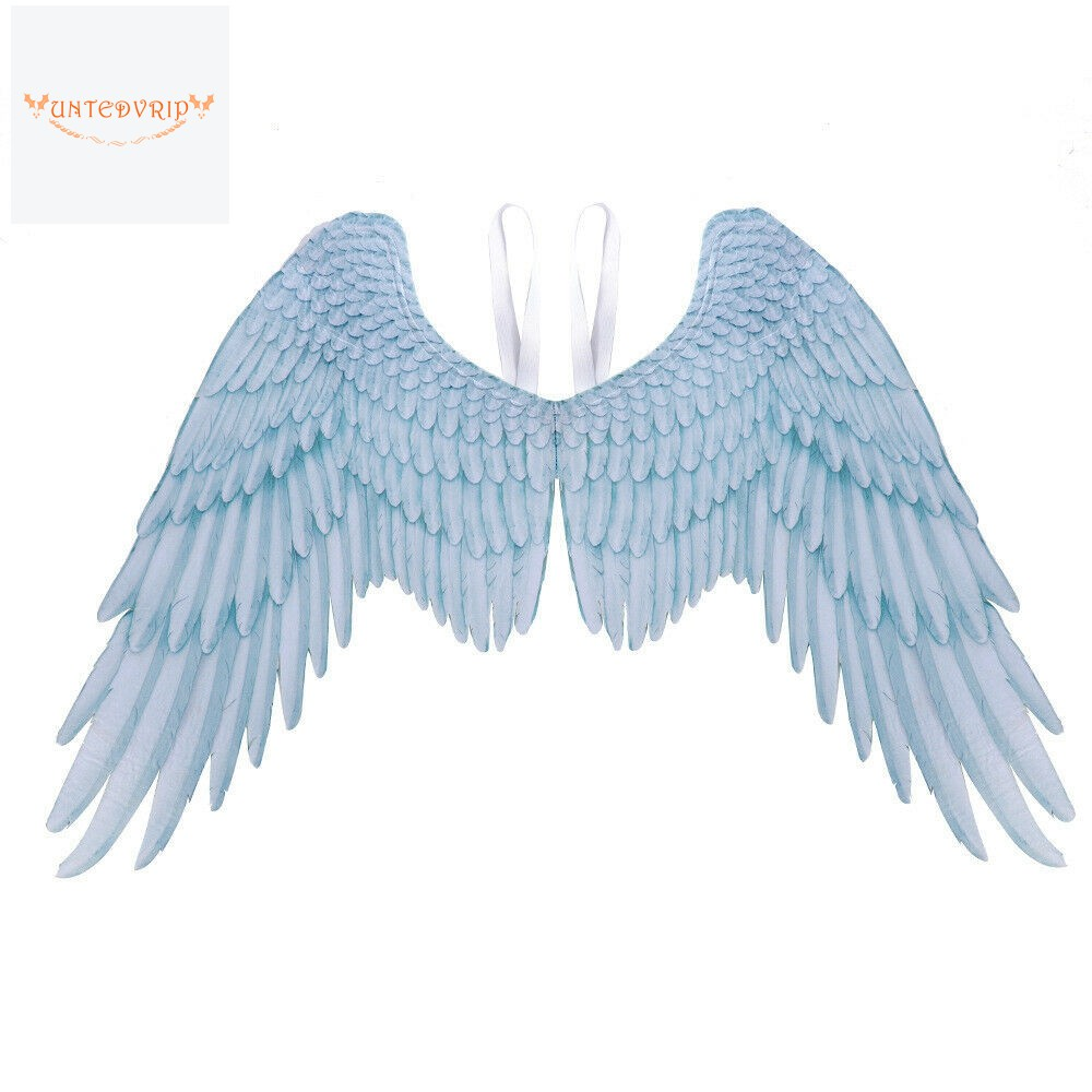 Red White Halloween Feather Fairy Angel Wings Black