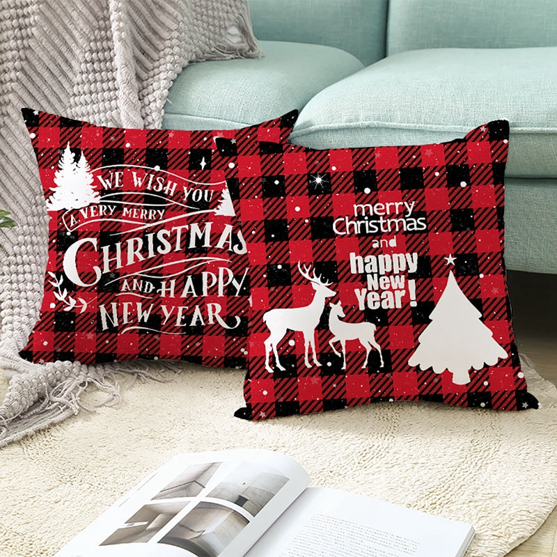 2020 Christmas Cushion Cover Xmas Pillow Case Merry ...