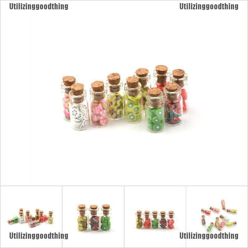 1Pc 1:12 Mini Fruit Vegetable Bottle Dollhouse Miniature Food Toy Kitchen*DecorH