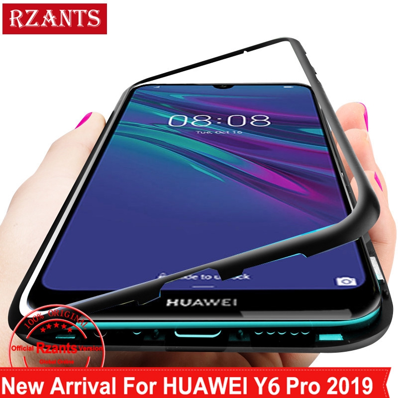 Huawei Y6 Pro 2019 Case【Built-in Magnet】Glass Back Cover