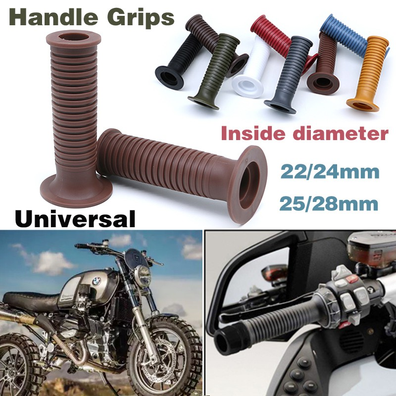 1 Pair 22mm 7//8 Motorcycle Handlebar Grips Covers Universal Motorbike Rubber Hand Grips for Most Motorcycles Bikes Black