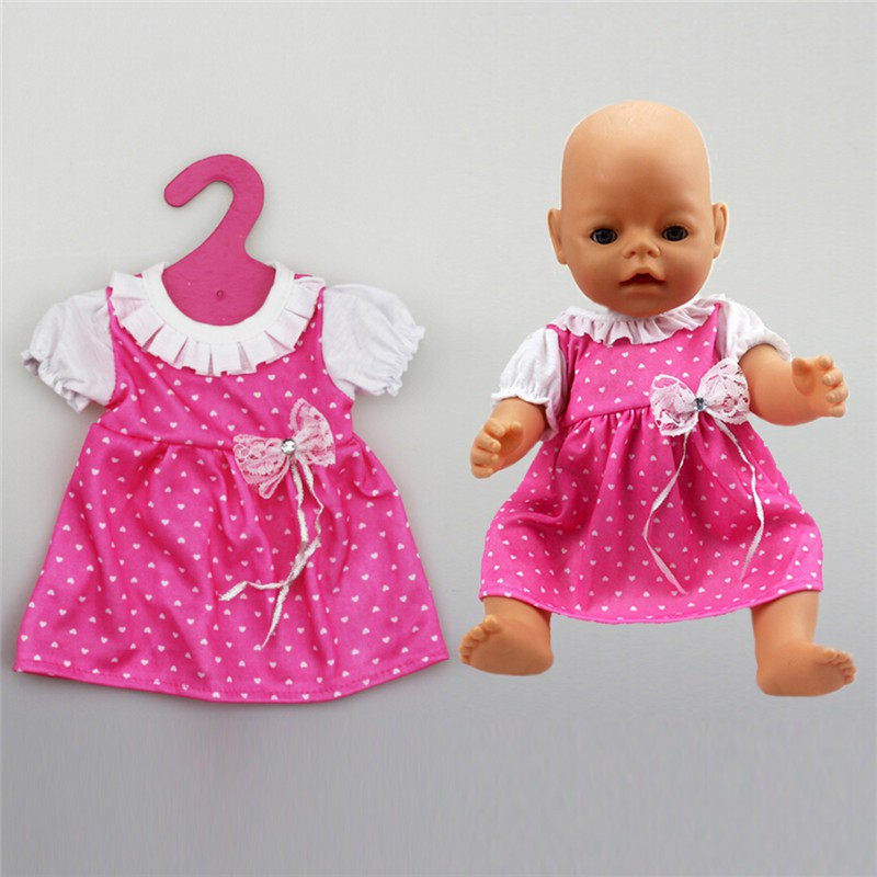 ❤❤ Beautiful Doll Pink Dress Fit 43cm Baby Born zapf 18 Inch American Girl  Dolls  f4f492a6e395
