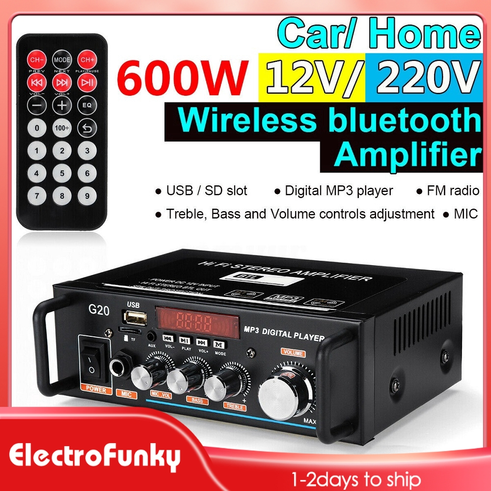 Receiver wireless microphone connect amplifier to to how how do