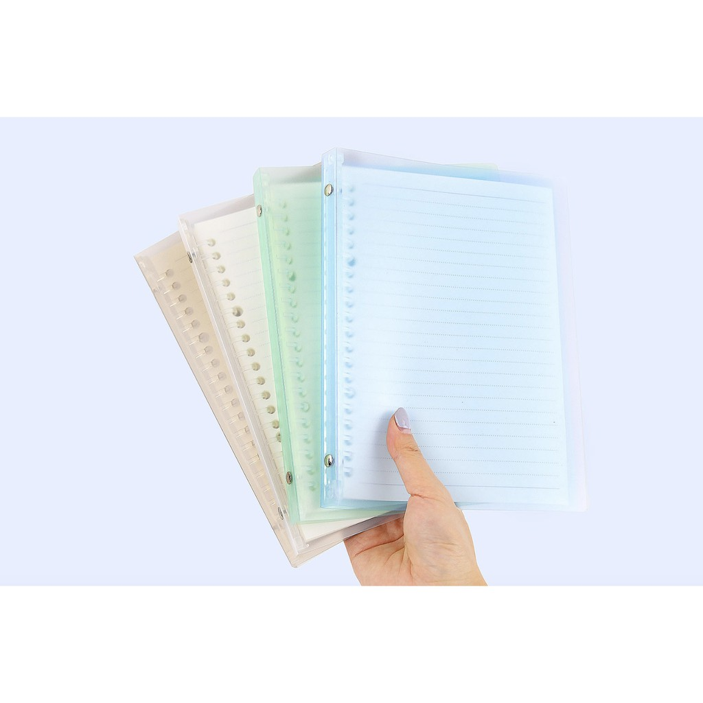 Japan Soft PP Binder Notebook Refillable/20 26 Holes