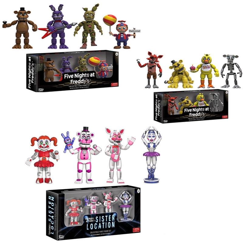 Five Night At Freddy S Fnaf Action Figures Toys Foxy Freddy Pvc Figure Funko Teddy Bear S Dolls Toys Shopee Philippines