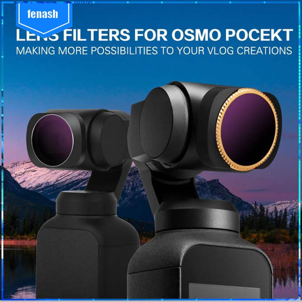 1 x ND4//8//16 3Pack ND4,ND8,ND16 Neutral Density Lens Filter Kit Lens Protector for DJI Osmo Pocket Handheld Gimbal Photography Accessories TELESIN Camera Magnetic Lens Filter