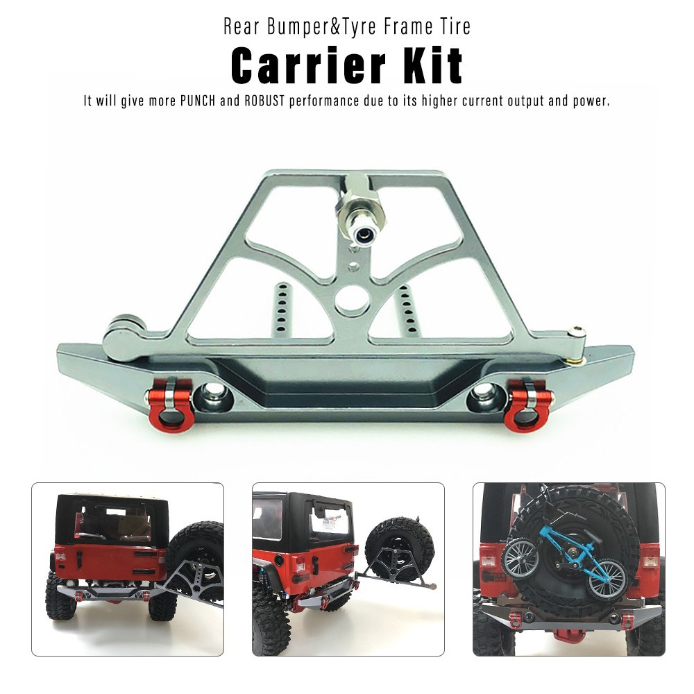 Rear Bumper w/ Tyre Frame Tire Carrier Kit for 1/10 Traxxas HSP Redcat RC4WD | Shopee Philippines