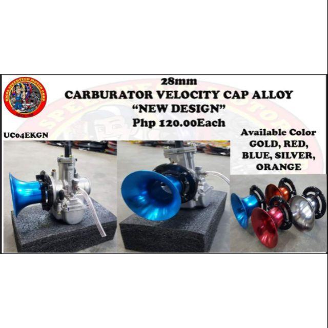 28MM CARBURATOR Velocity Cap Alloy New Design