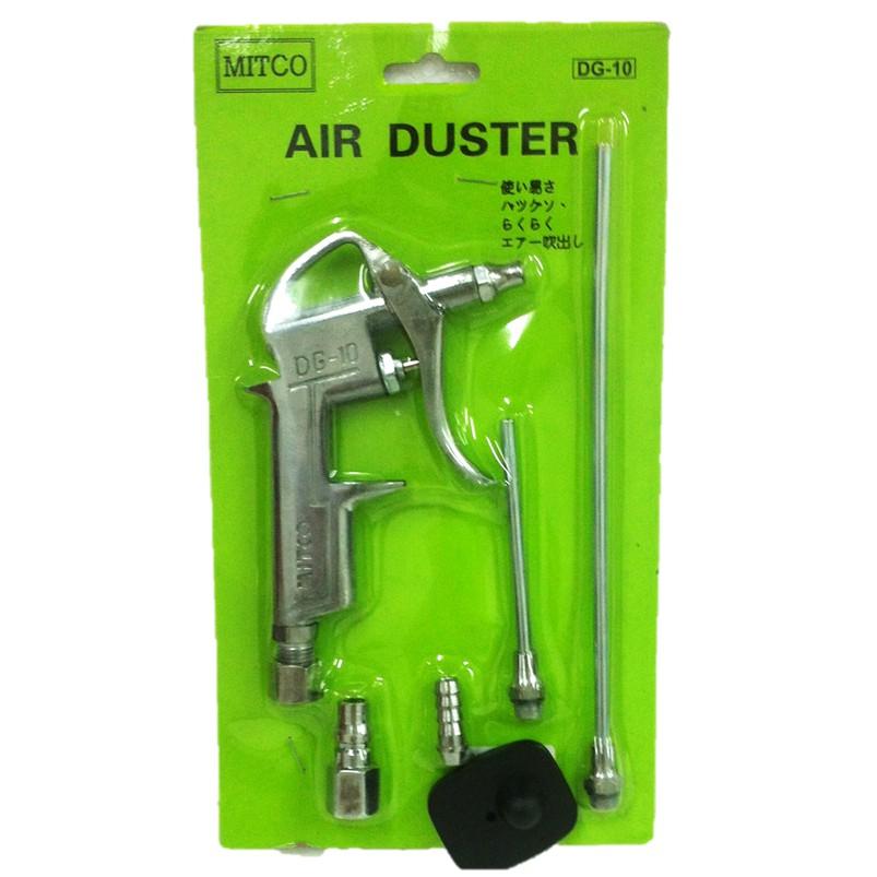 Black Air Duster Gun Pneumatic Wind Blowing Kit Set with EU Connector PU Hose