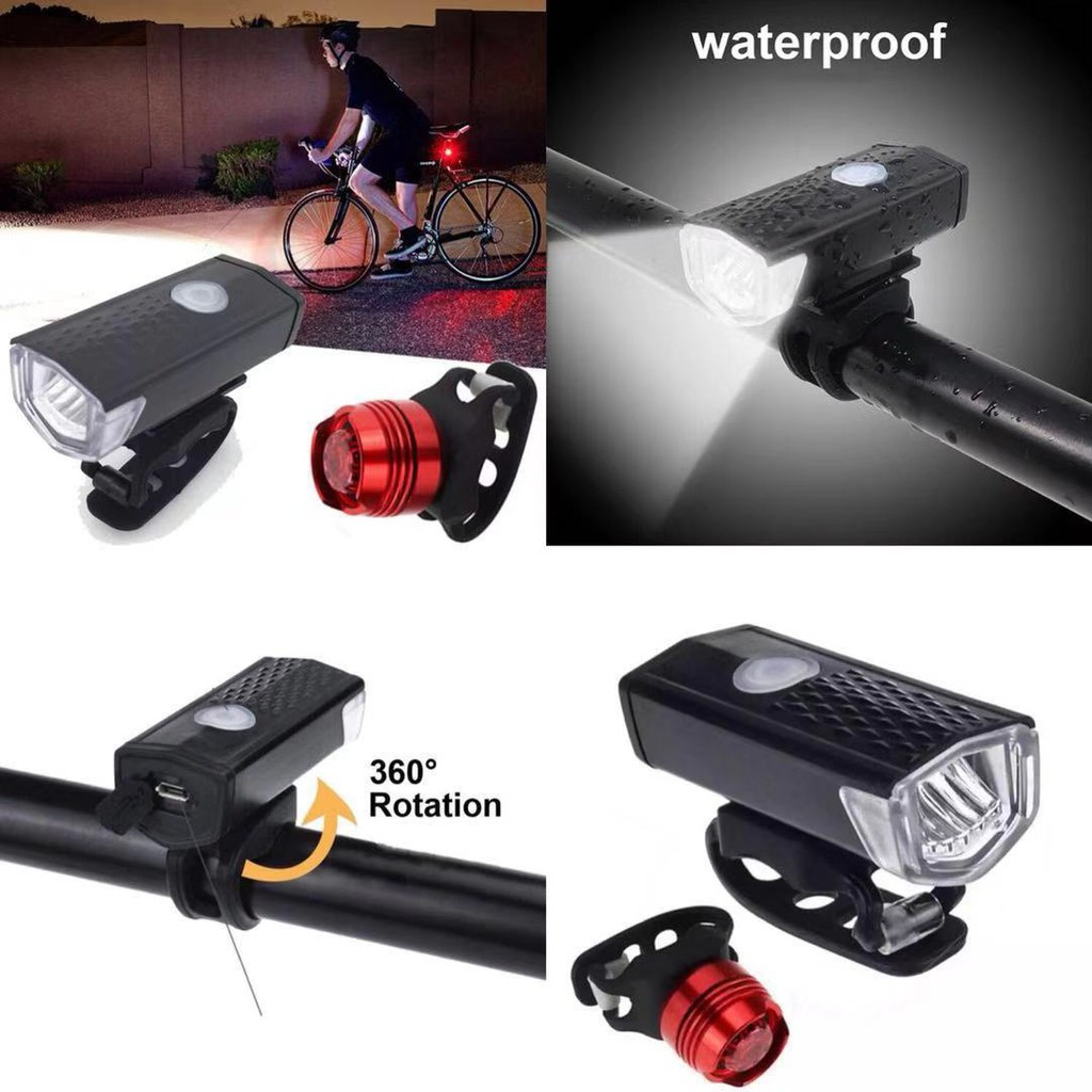 Waterproof Led Light Holder Front Cycling Bike Bicycle Lamps Lantern Flashlight